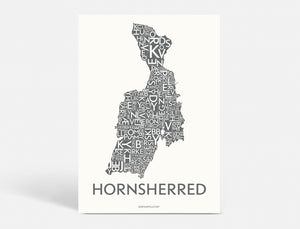 HORNSHERRED - DARK GREY - 50x70 CM