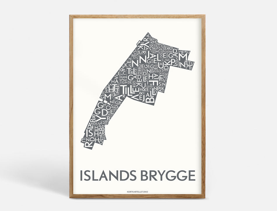 ISLANDS BRYGGE - DARK GREY - 50x70 CM
