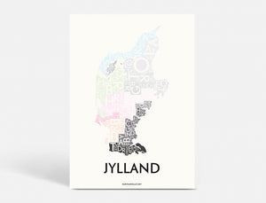 JYLLAND - SPECIAL EDITION - 40x55 CM