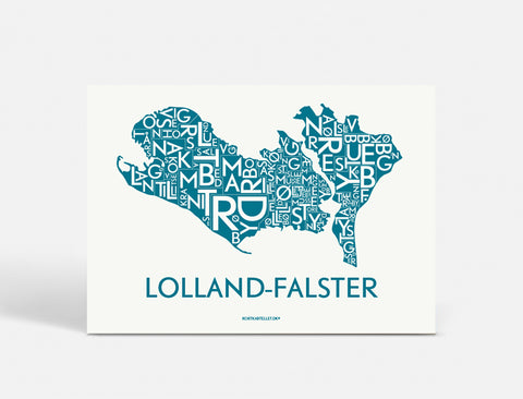 LOLLAND-FALSTER - PETROL BLUE - 50x70
