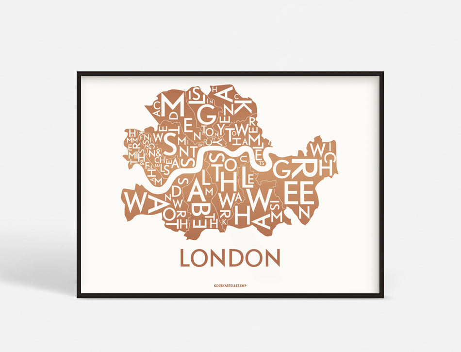 LONDON - COPPER - 70x50 CM