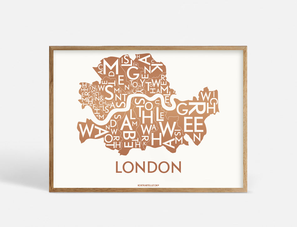 LONDON - COPPER - 40x55 CM