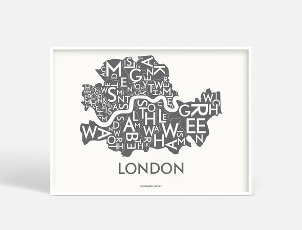 Plakat 40x55 CM - LONDON - KOKS