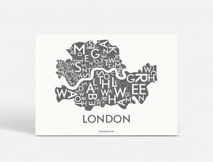LONDON - DARK GREY - 40x55 CM