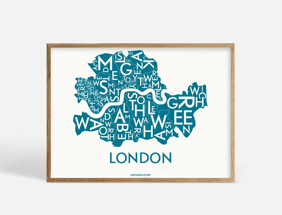 LONDON - PETROL BLUE - 40x55 CM