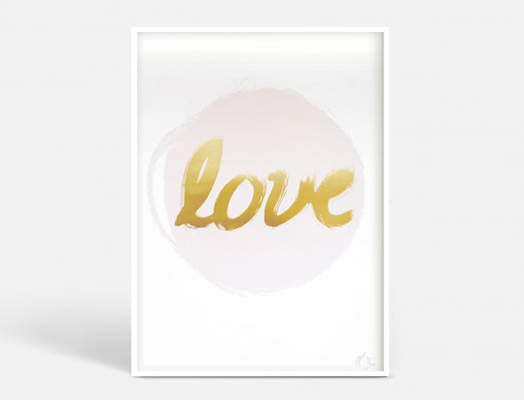 Plakat A3 - LOVE - ROSE