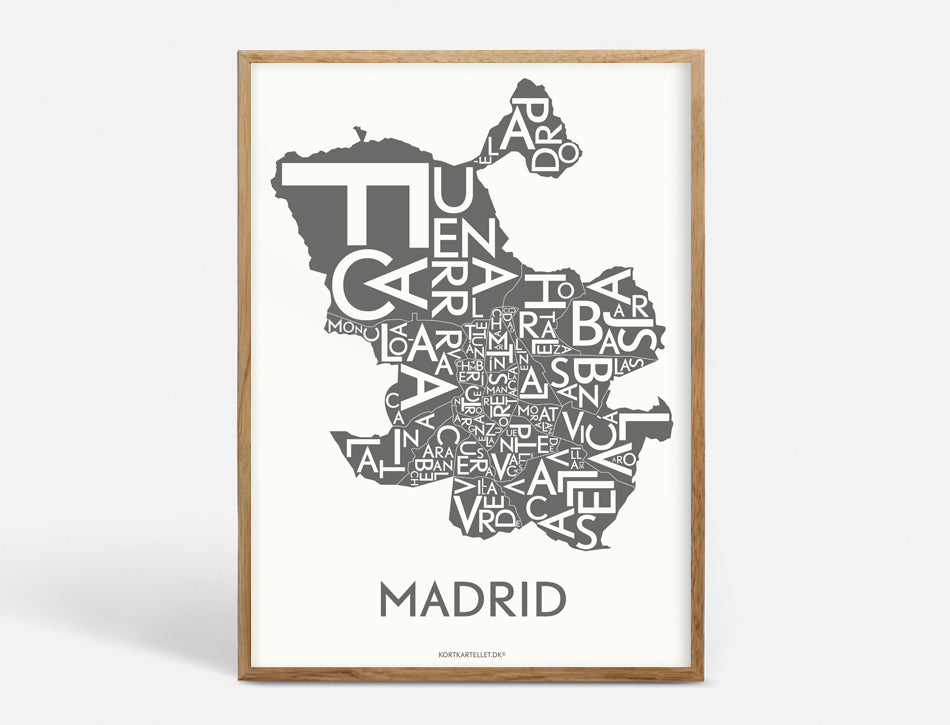 MADRID - DARK GREY - 40x55 CM
