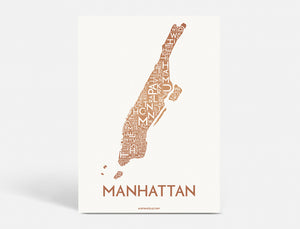 MANHATTAN - COPPER - 50x70 CM