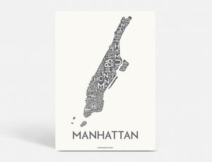 MANHATTAN - DARK GREY - 40x55 CM