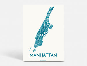MANHATTAN - PETROL BLUE - 40x55 CM