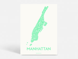 MANHATTAN - STRONG MINT - 50x70 CM