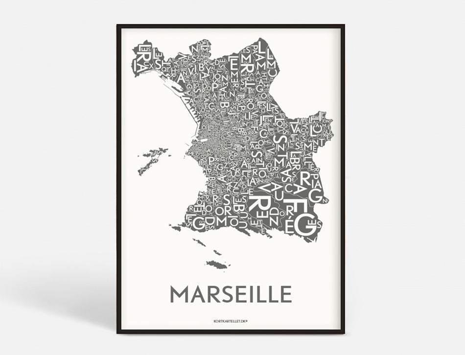 MARSEILLE - DARK GREY - 50x70 CM