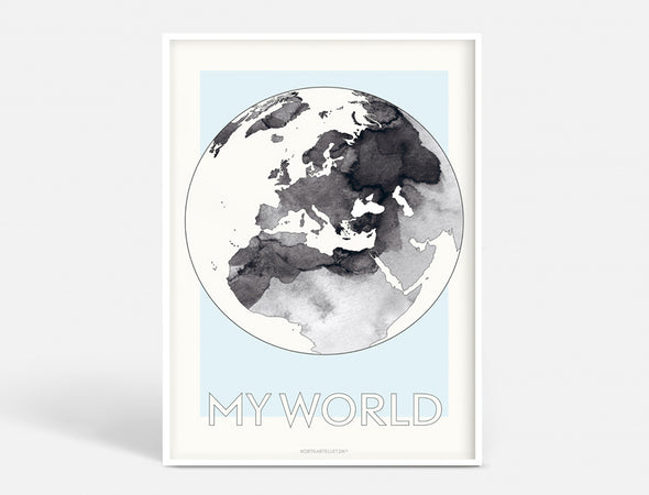 Plakat 50x70 CM - MY WORLD
