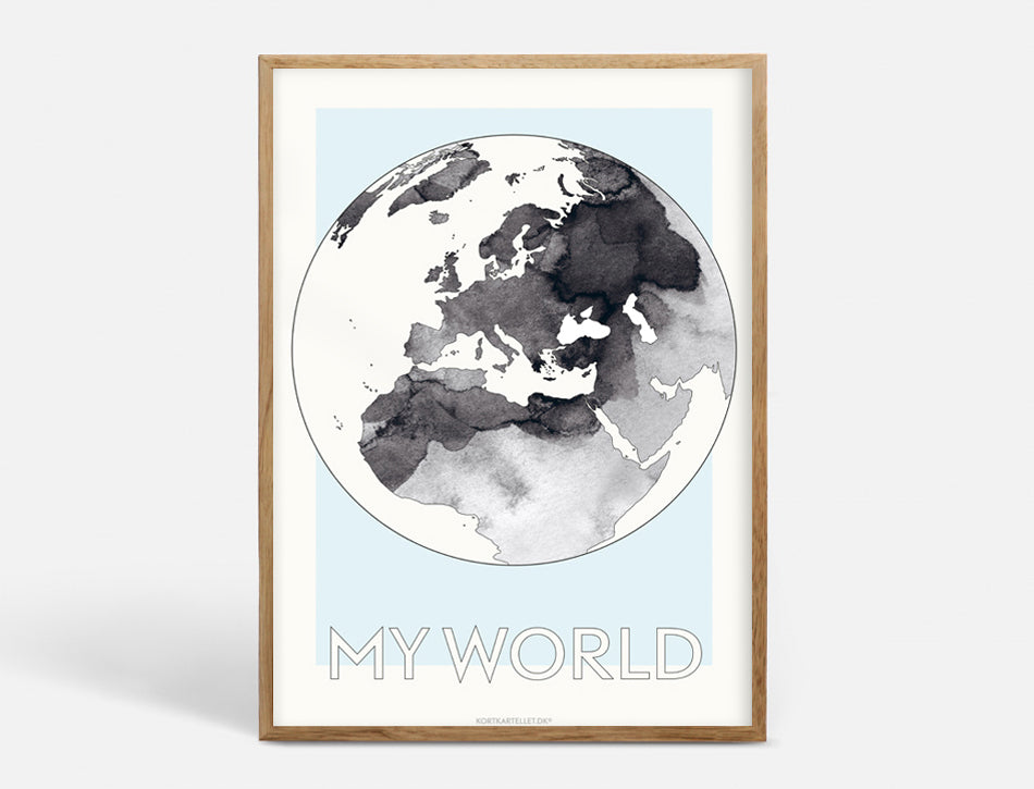 Plakat MY WORLD - 50x70 CM
