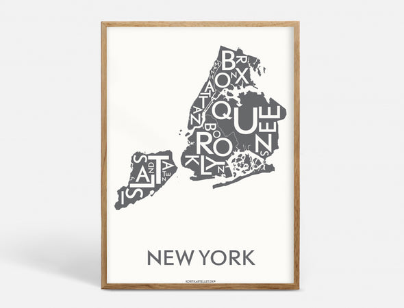 Plakat 50x70 CM - NEW YORK (CITY) - KOKS