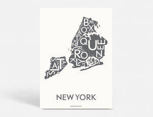 NEW YORK (CITY) - DARK GREY - 40x55 CM