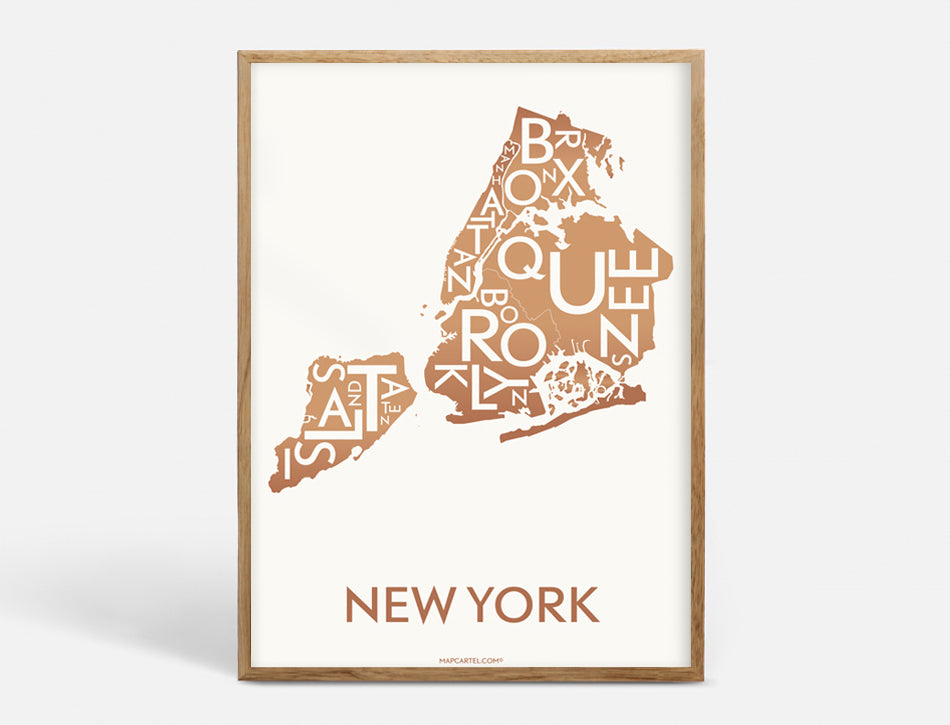 NEW YORK (CITY) - COPPER - 50x70 CM