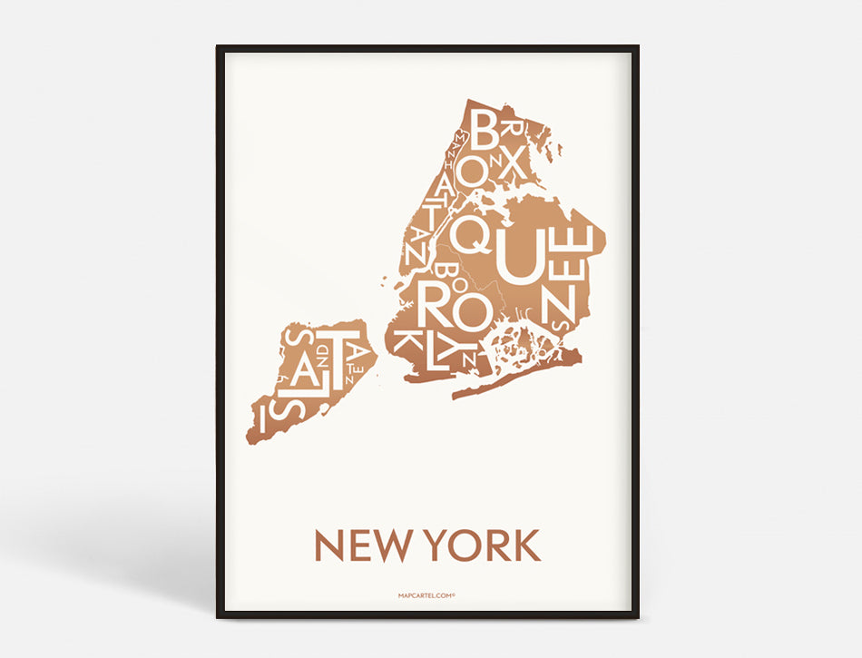 NEW YORK (CITY) - COPPER - 40x55 CM