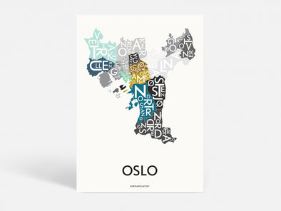 Plakat  50x70 CM - OSLO - SPECIAL EDITION