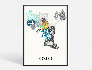 Plakat OSLO - SPECIAL EDITION - 50x70 CM