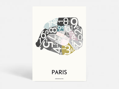 Plakat 50x70 CM - PARIS ARRONDISSEMENTS - SPECIAL EDITION