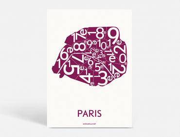 Plakat 50x70 CM - PARIS ARRONDISSEMENTS - BORDEAUX