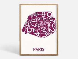 Plakat PARIS ARRONDISSEMENTS - BORDEAUX - 50x70 CM