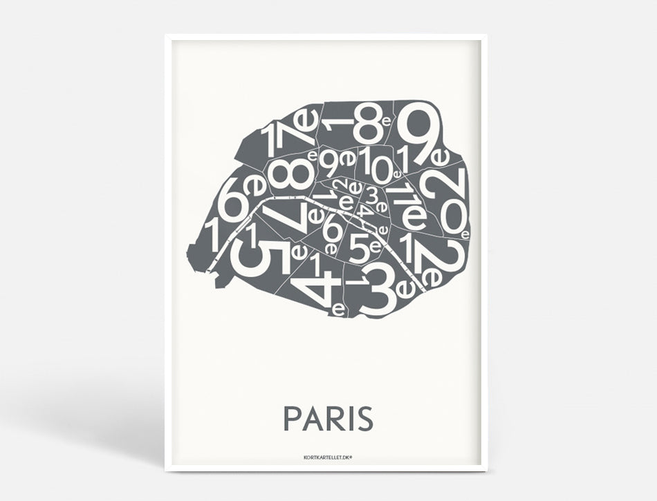 Plakat 50x70 CM - PARIS ARRONDISSEMENTS - KOKS