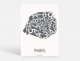 Plakat PARIS ARRONDISSEMENTS - KOKS - 50x70 CM