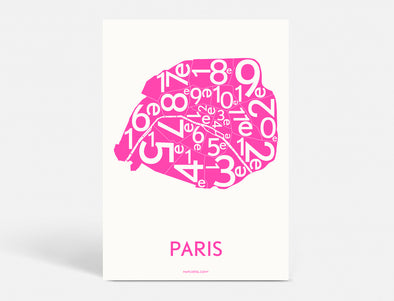A5 - PARIS ARRONDISSEMENTS - NEON PINK
