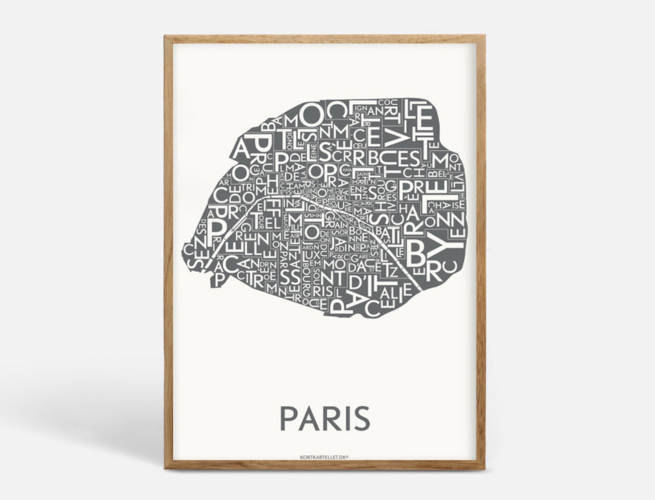 PARIS DISTRICTS - DARK GREY - 50x70 CM
