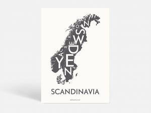 SCANDINAVIA - DARK GREY - 50x70 CM