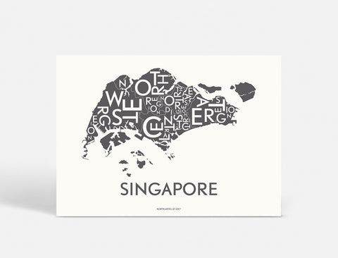SINGAPORE - DARK GREY - 50x70 CM