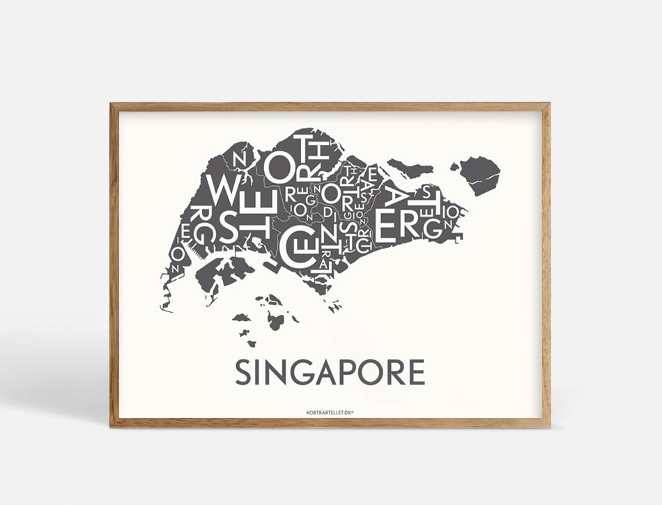 SINGAPORE - DARK GREY - 70x50 CM