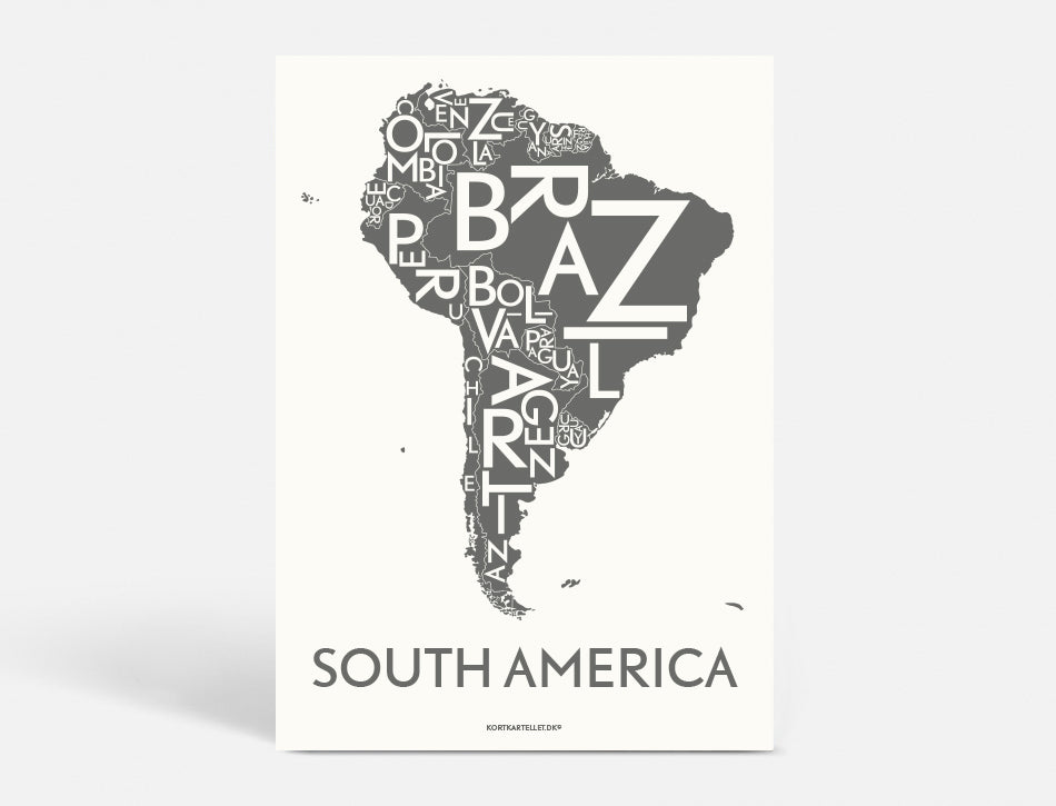 Plakat 40x55 CM - SOUTH AMERICA - KOKS
