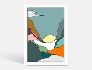 Plakat LAND OF ESCAPE WINTER - SUN - 50X70 CM