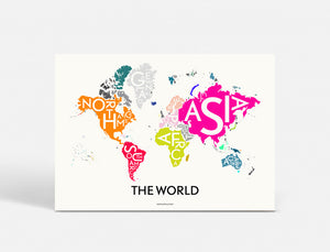 Plakat THE WORLD - SPECIAL EDITION - 70x100 CM