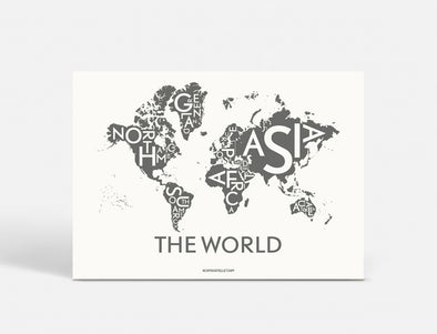 Plakat 100x70 CM - THE WORLD - KOKS