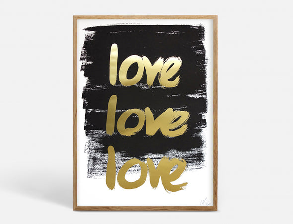 Plakat A3 - LOVELOVELOVE - SORT