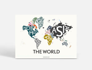 Plakat THE WORLD - SPECIAL EDITION - 70x50 CM