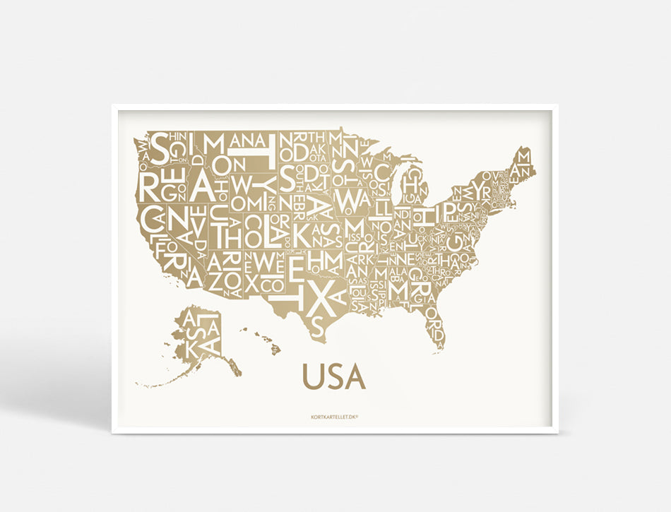 USA - DARK GOLD - 70x50 CM