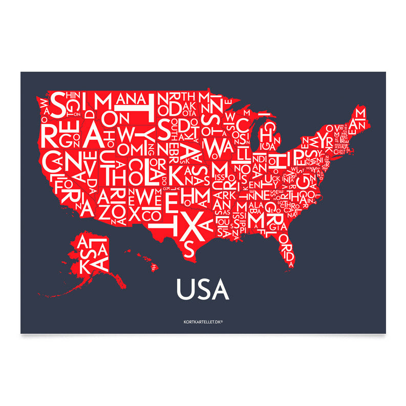 Plakat USA - SPECIAL EDITION - 50 x 70 CM