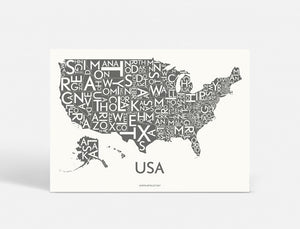 USA - DARK GREY - 70x50 CM