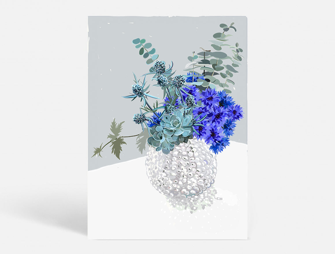 BLUE BOUQUET - BLUE - 50X70