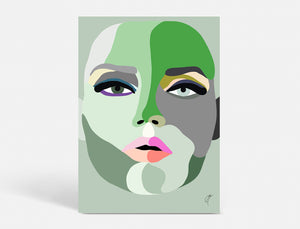 GREEN FACE - FEMINISM - 3 SIZES