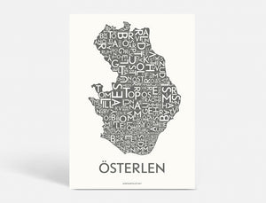Plakat ÖSTERLEN - DARK GREY - 50x70 CM