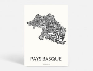 PAYS BASQUE - DARK GREY - 40x55 CM