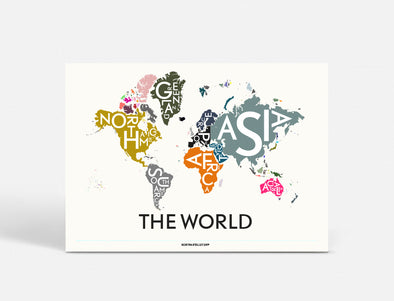 Plakat 55x40 CM - THE WORLD - SPECIAL EDITION