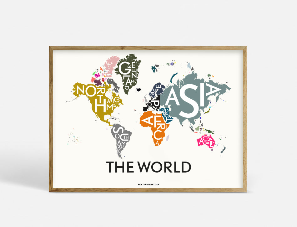 THE WORLD - SPECIAL EDITION - 55X40 CM