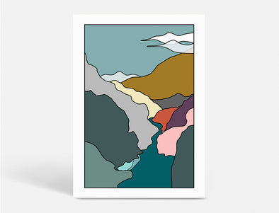 Plakat 50X70 CM - LAND OF ESCAPE WINTER - WATER